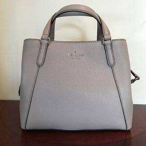 Kate Spade Grey Leather Jackson Medium Satchel